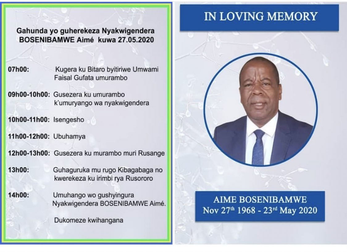 #RwOT #News   The Farewell and tributes are underway . #BosenibamweAime who passed away some days back  the story is bitter . pic.twitter.com/0TnD878xEo
