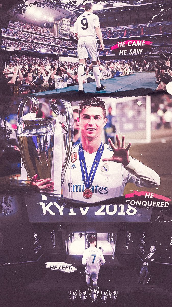 He came. He Saw. He Conquered. He Left. @Cristiano.  #Cristiano #Realmadrid #Wallpaper pic.twitter.com/NO6CQIg0SW