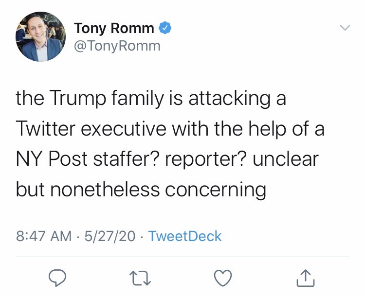 """I'm not """"helping"""" anyone. What's concerning here is a Washington Post reporter? staffer? .. unclear, ... who doesn't understand how publicly available facts work"""