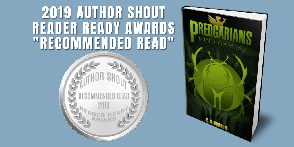 Reader Ready Award Recommended Read  Predgarians Book 2 - Mind Games is available at https://amzn.to/2GPV2BG   @C_A_Ardron    #award #awardwinning #awardwinningauthor #asmsg #book #books #amreading #indiebooksbeseen #recommendedreadpic.twitter.com/OKM6k3Z4QD