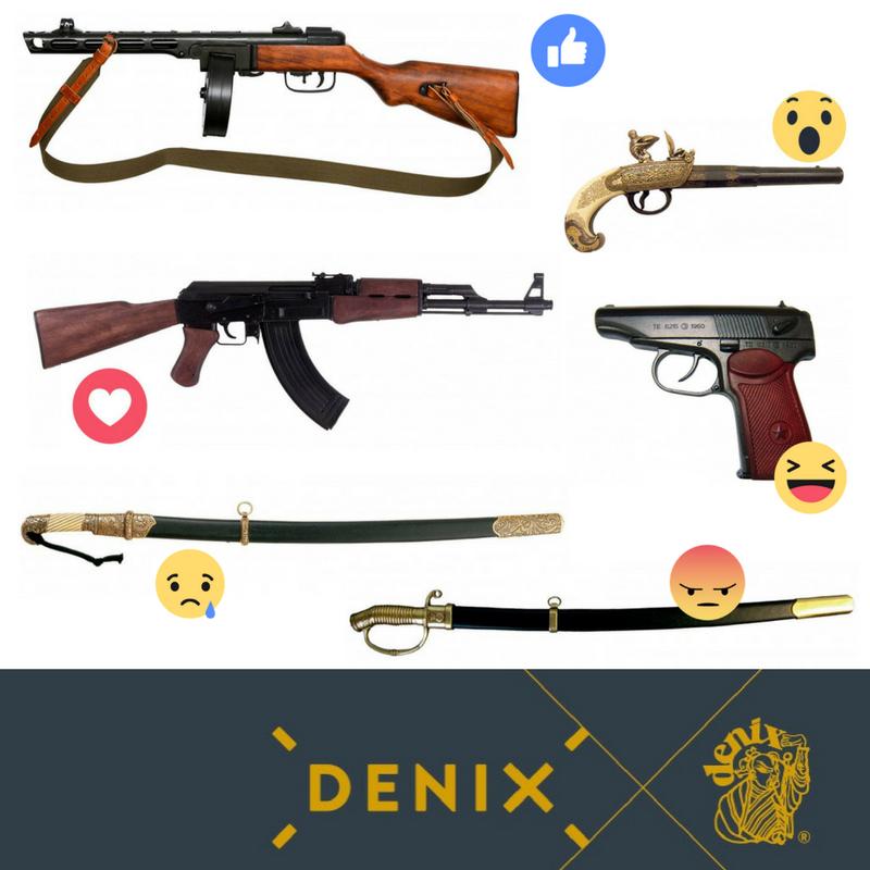 Which one of these Russian weapons is your favourite? #denix #denixreplicas #denixweapons #denixarms #collectinghistory #replicas #history #historygeek #ww2 #wwii #ww2history #warhistory #battle #pistol #rifle #ppsh41 #ak47 #flintlockpistol #shashka #sabre<br>http://pic.twitter.com/w7ruMwjqhm