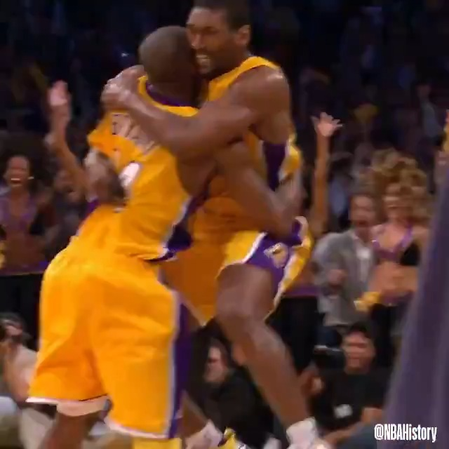On this day in 2010, Ron Artest hits the game-winning putback buzzer-beater to give the @Lakers a 3-2 series lead in the Western Conference Finals vs. PHX! #NBAVault   We're streaming 2010 WCF Game 5 live and watching together tonight on @NBA at 8pm/et. #NBATogetherLive https://t.co/h7mxzR863X
