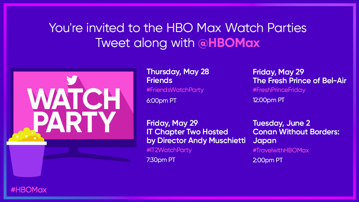Join HBO Max for watch parties you won't want to miss 🍿