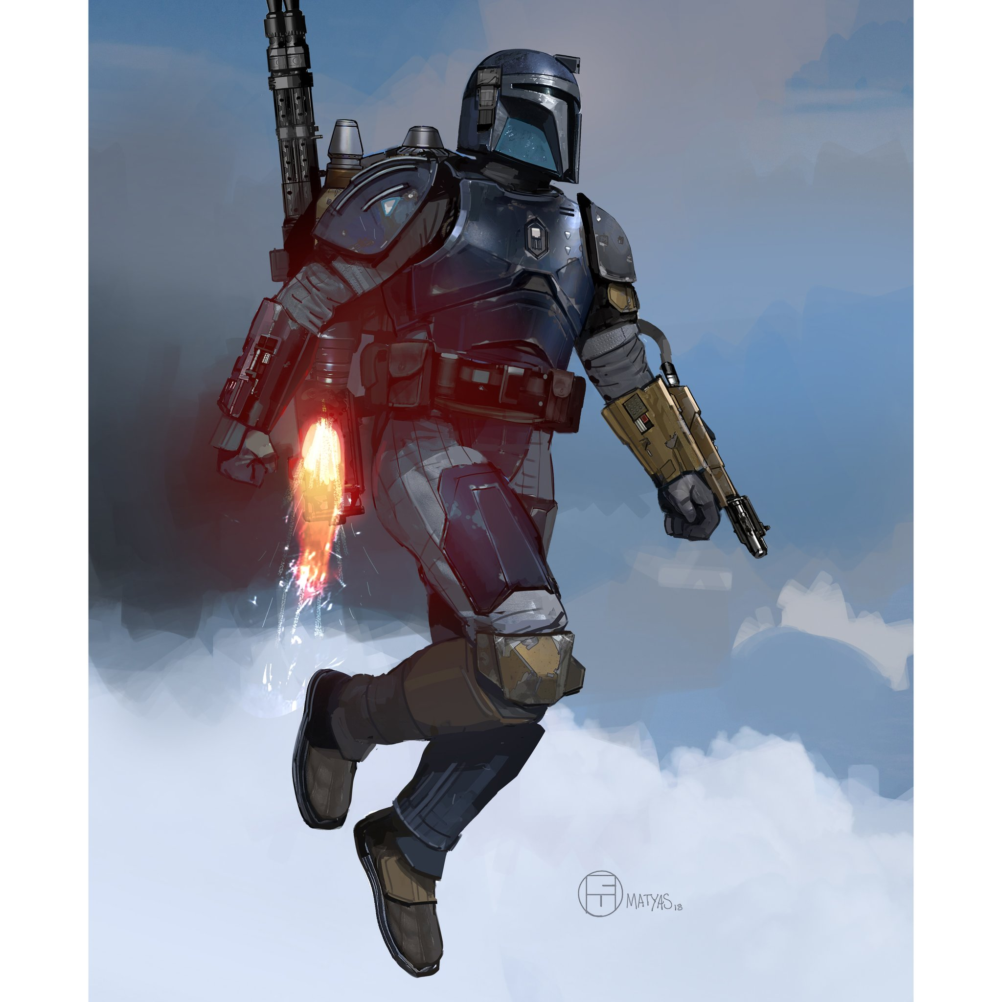 New Reveal Of The Heavy Duty Mandalorian's Gripping Concept Art from The Mandalorian Show - The Illuminerdi