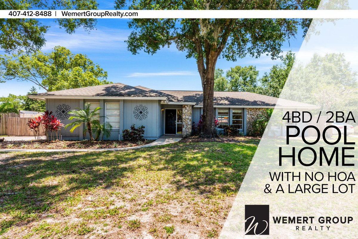 Just Listed  4BD/2BA POOL HOME in Winter Springs, FL 32708!  Price, photos, and more info at https://homes.wemertgrouprealty.com/idx/details/listing/c003/O5866126/1389-WHITE-OAK-DRIVE-WINTER-SPRINGS-FL-32708 …   Highlights: Just over a Quarter Acre Lot • Screened-in Swimming Pool • No HOA • & more! #JustListed #PoolHome #WinterSpringspic.twitter.com/MPQd3qa9Bp