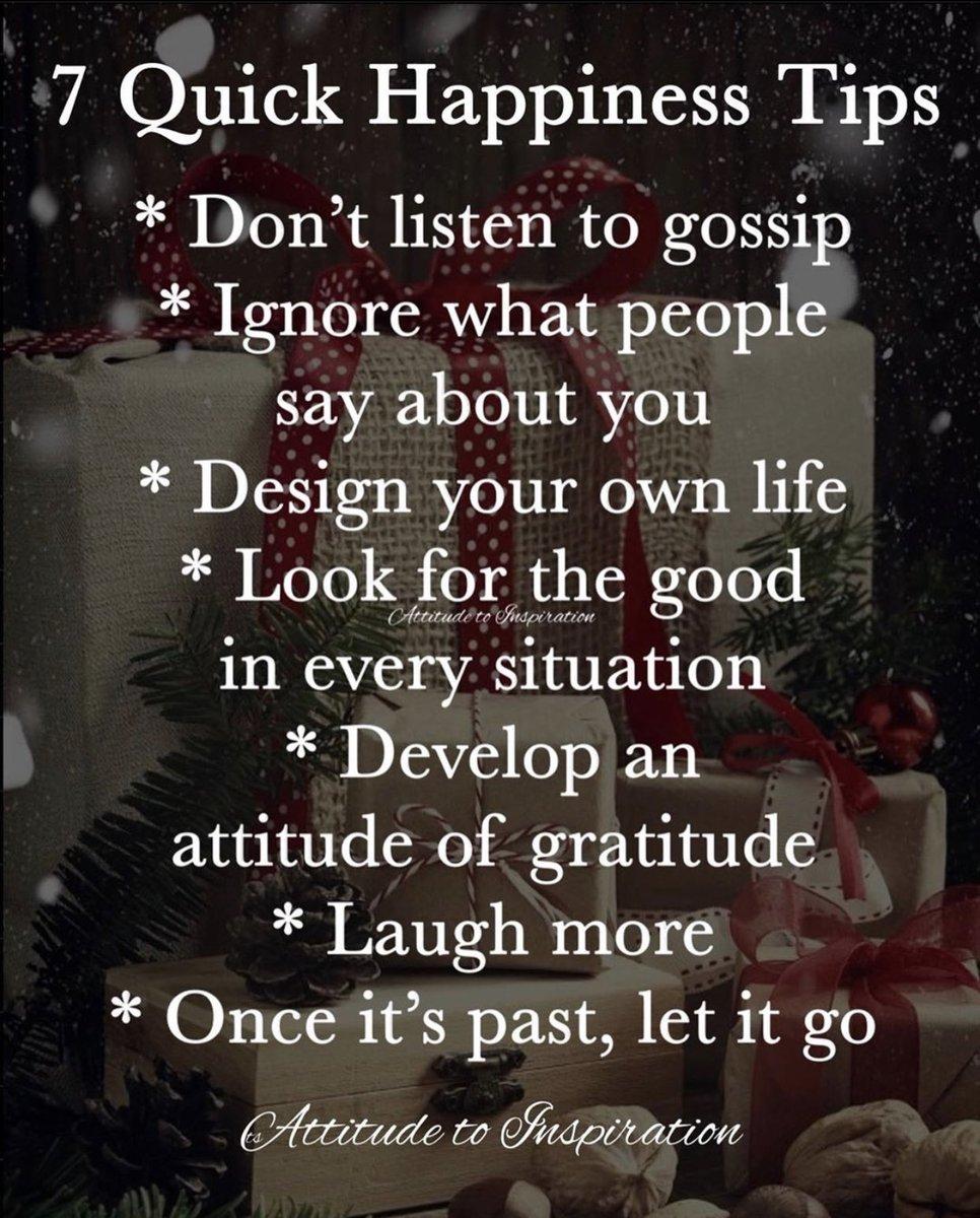#happinesstips #dontlistentogossip #ignorewhatpeoplesayaboutyou #designyourlife #itsyourlife #lookforthegood #attitudeofgratitude #laughmore #letitgo #itsyourchoice #itsyourdecision #lifeisshort #lightenup #smileitscontagious #betheexample #bethebestyou #lyblpic.twitter.com/EGLBegTYcz