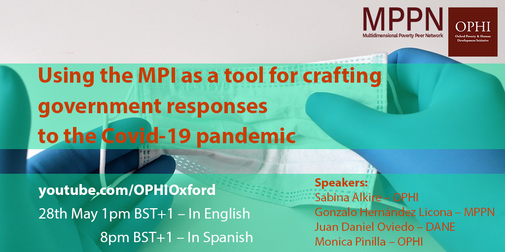 📣This Thursday #MPPN is hosting its first public webinar on Using the MPI as a tool for crafting government responses to the COVID-19 pandemic. It will be livestreamed on our YouTube channel in English (1PM BST) ➕Spanish (8PM BST). Highly recommended! 👉https://t.co/YewezwjORT https://t.co/3dXit0zXcI