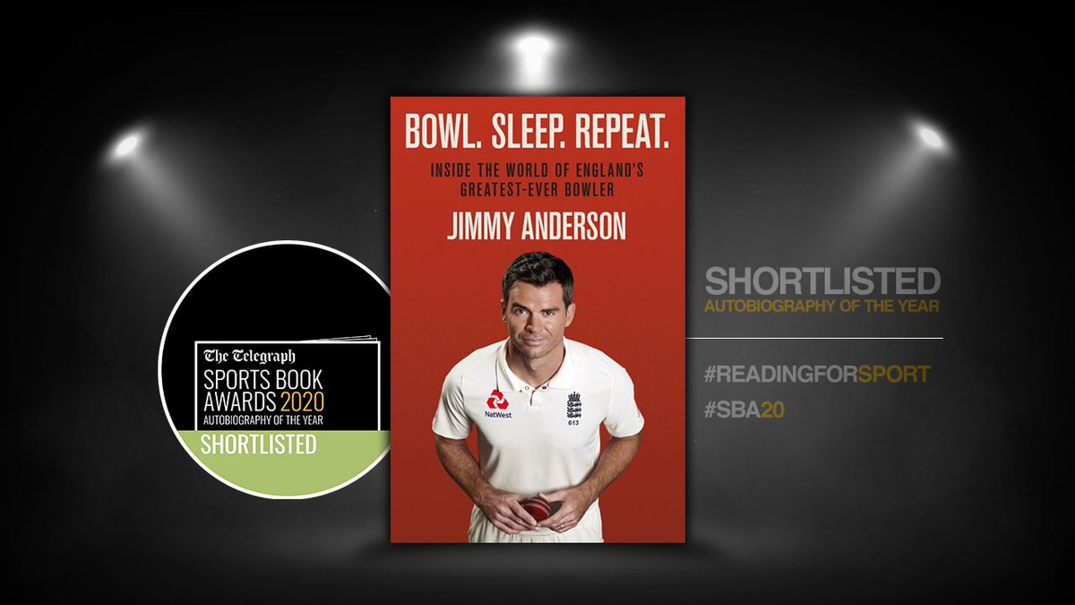 📚 Congratulations to @jimmy9 & @benstokes38 who have been shortlisted for Autobiography of the Year @sportsbookaward. #ReadingForSport #SBA20