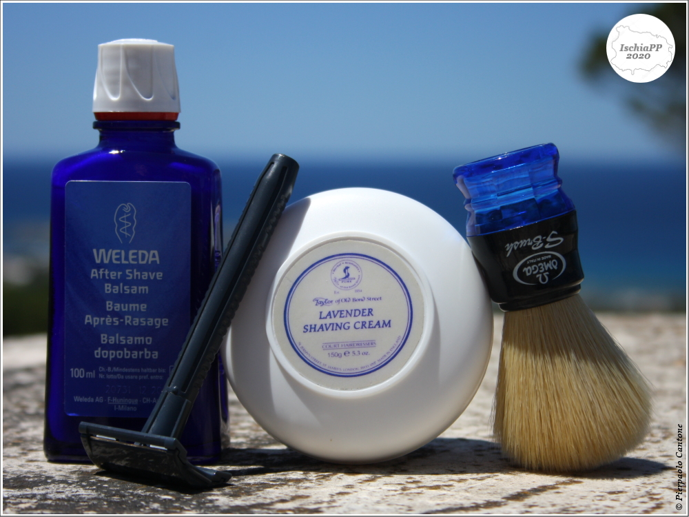 """#SOTD 20200527 Blue by #IschiaPP @ #Forio Omega S10077 S-Brush Blue 22x50x101mm Taylor Of Bond Street Lavender (sample) Dorco """"PP603"""" Wilkinson Sword by Gillette India #2 Weleda After Shave Balsam #Shave #WetShaving #WetShavers #ShaveOfTheDay #ShaveLikeaManpic.twitter.com/tZMjC5ZYtk"""