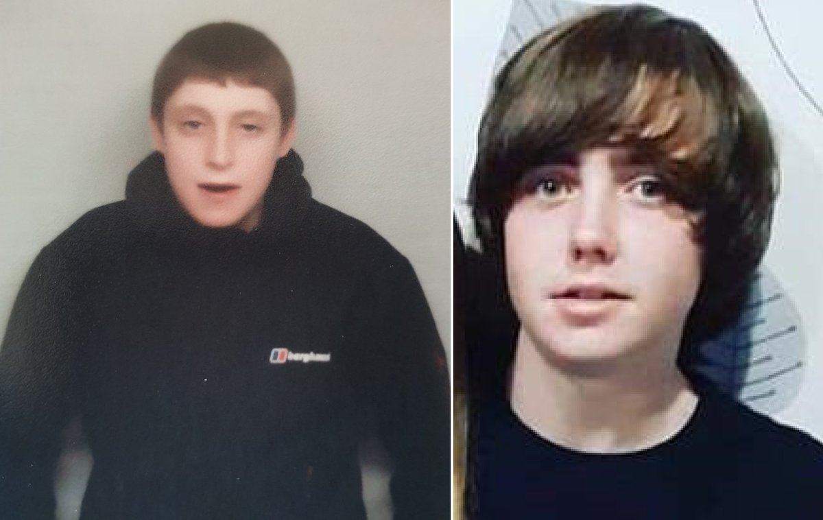 Have you seen #missing Andrew O'Brien, 14, and Elliot Ryan, 15, both from Kensington? They are known to frequent #Kensington, #Anfield, #Wirral & #Cumbria. Please contact @MerPolCC or 101 with info