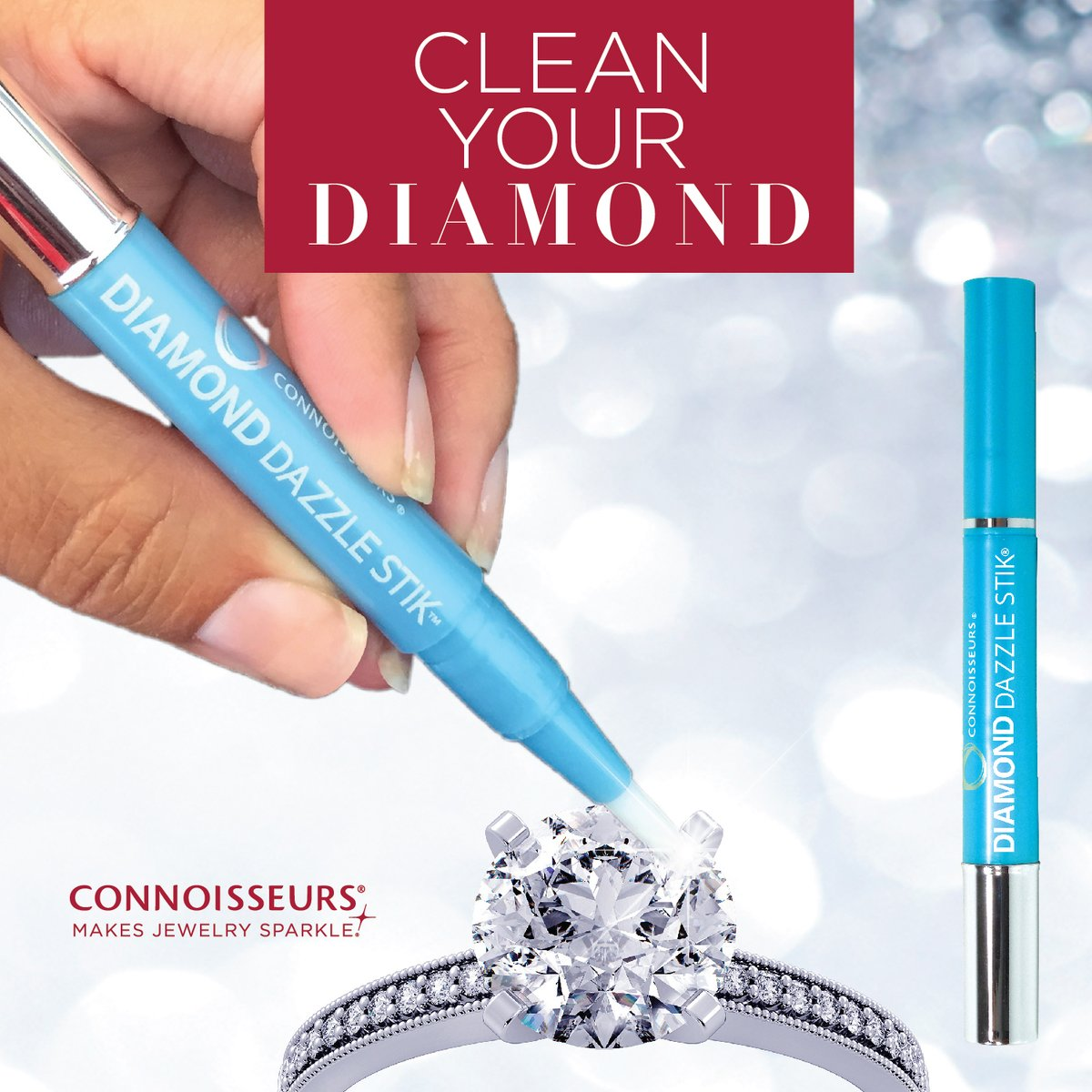 Make sure your diamond ring is Dazzle Stik clean #staysafe #cleanyourjewelry #connoisseurs #diamonddazzlestik #cleanyourdiamond #jewelrycleaner #onthegocleaner #diamondring #engagementring #engagementringcleanerpic.twitter.com/mg3Th7bLJA