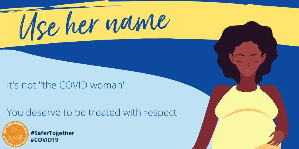 A pandemic isn't an excuse to forego #RespectfulCare. Addressing someone by their name rather than their illness establishes an important compassionate connection. Use her name.  #RespectfulCare #SaferTogether https://t.co/q3IPEGdFj7