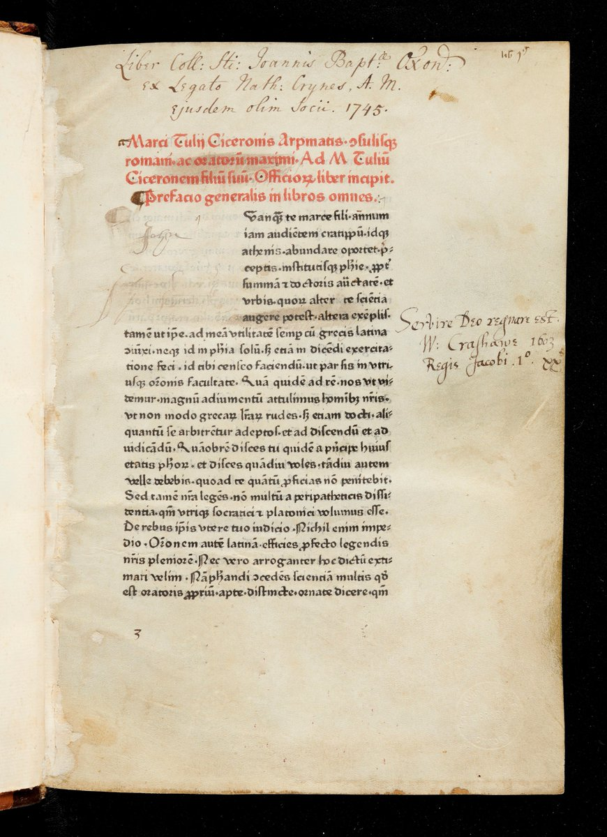 Find out about this @StJohnsOx copy of Cicero's De officiis in Quiz 7 at https://bit.ly/3gt45t3 #oxfordgetsdigital #OxOutreach #lockdownactivities pic.twitter.com/iVQ3npARya
