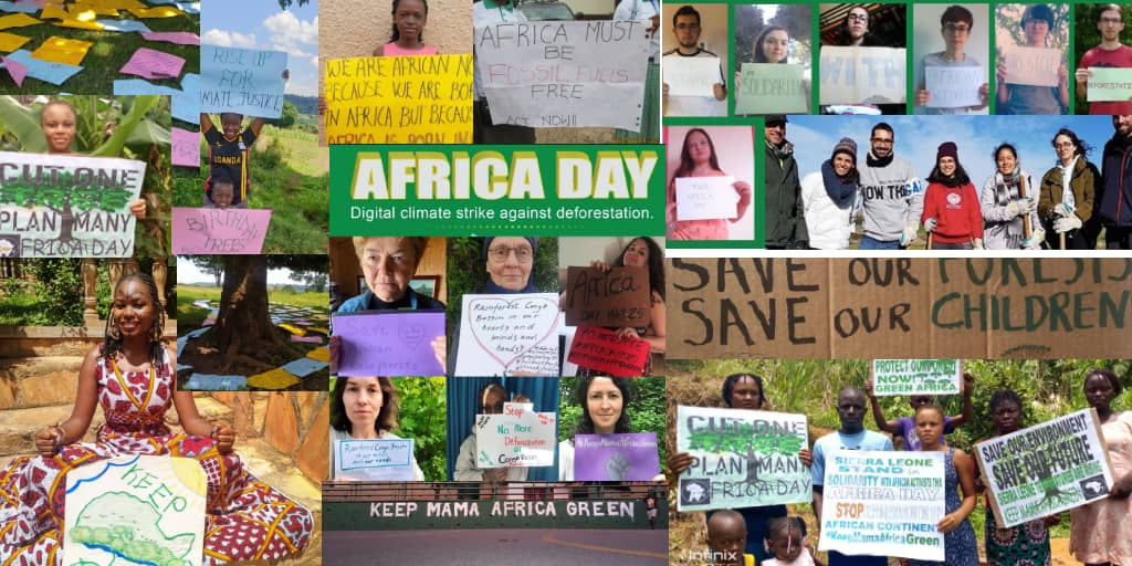 Check #AfricaDay2020 in pictures. Africa and the world came together as one to fight #deforestation on the African continent. Thank you for the solidarity. A big thank you to our partners @GreenCampaignAf #KeepMamaAfricaGreen https://t.co/vGhIaCKwtx