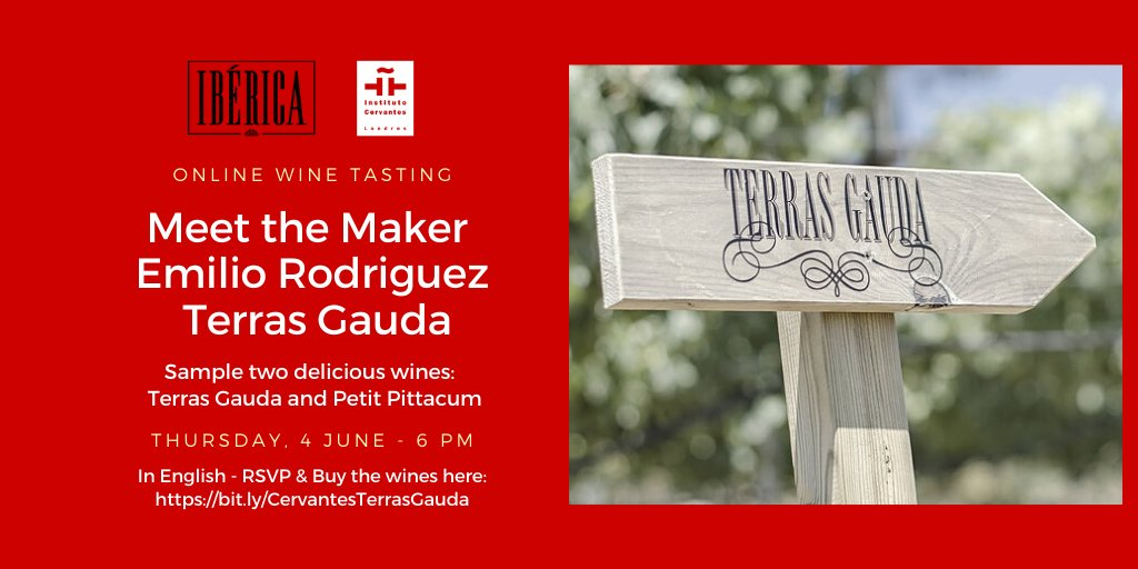 Join us for an exclusive online #winetasting with Emilio Rodriguez, wine maker of Bodegas Terras Gauda as we sample two delicious wines.  An event in collaboration with @Iberica_UK https://bit.ly/CervantesTerrasGauda…pic.twitter.com/4OU4dGfqXV