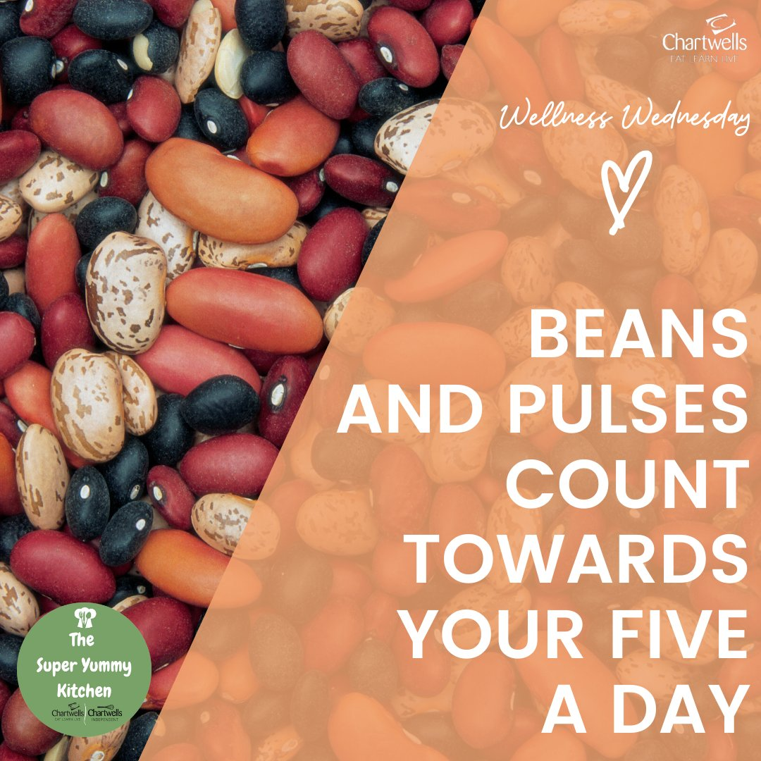 Beans & pulses (like chickpeas, lentils & kidney beans) are a great way to add extra flavours, colours & textures to your meals! They are packed full of nutrients, including fibre, protein & iron…they even count as 1 of your 5-a-day! #WellnessWednesday #LockdownNutritionpic.twitter.com/bARRzBtDev
