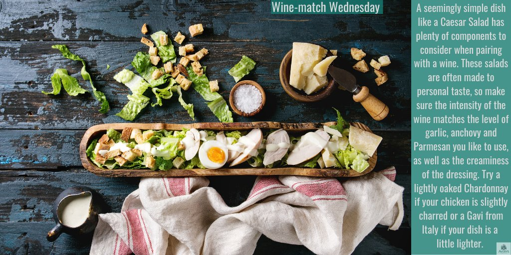 How do you make yours - The more garlic the better? What about the dressing to salad ratio? Iceberg or little gem? Which cheese do you use for a vegetarian version? We feel a shopping list coming on... #winematch #wineandfood #winepairing #winetasting #wine #foodiepic.twitter.com/RypKwb8lnW