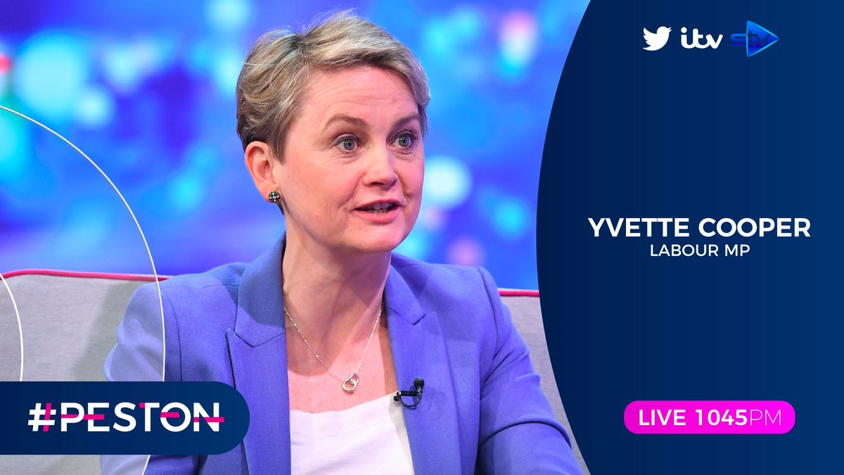 She's just held the PM to account in the #LiaisonCommittee, and tonight well find out what she thought of @BorisJohnsons responses. Joining @peston throughout the show is Labour MP & Chair of Home Affairs Committee @YvetteCooperMP #Peston 𝑳𝑰𝑽𝑬 1045𝑷𝑴 | 💻 & 📺 @ITV |