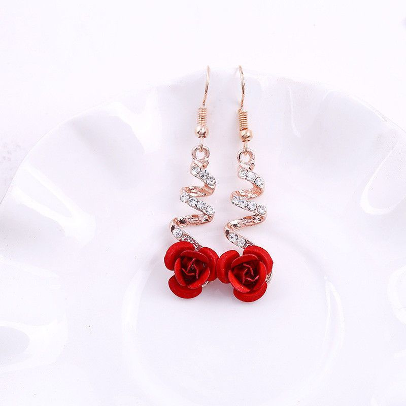 *  BIG SALE!  Romantic red rose earrings:  $5.00  Dozens of jewelry items on sale for $5.00 each!  Stock up for Christmas gifts now.    FREE Shipping with any $25 total order!  #Gifts #Jewelry #Sale #Fashion #Style #Earrings #Garden #Roses #Love #Beauty