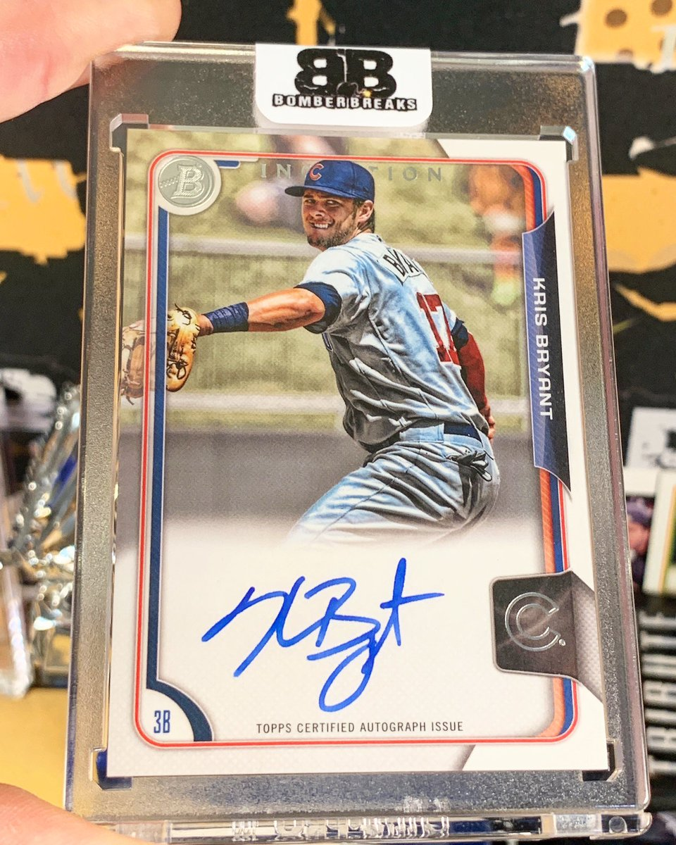 Sweet Kris Bryant Auto hitting out of a recent @topps Bowman Inception break. http://BomberBreaks.com  @KrisBryant_23 #boom #whodoyoucollect #thehobby #chicagocubs #cubs #krisbryant #bowman #autograph #groupbreakspic.twitter.com/qt9le1s3uW