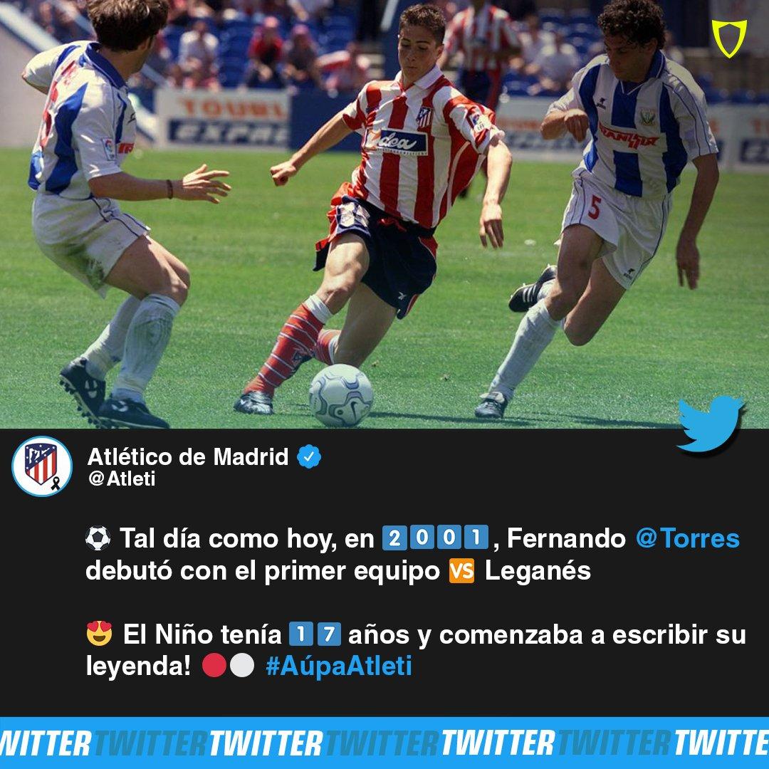 ¡Un día inolvidable para el 'Niño' con el jersey colchonero! 🤩🔴⚪️🇪🇸   #Torres #FernandoTorres #Atleti #AtleticoMadrid #LaLiga #Debut #Leyenda #SoyFanbolero https://t.co/ieqpU1q5CY