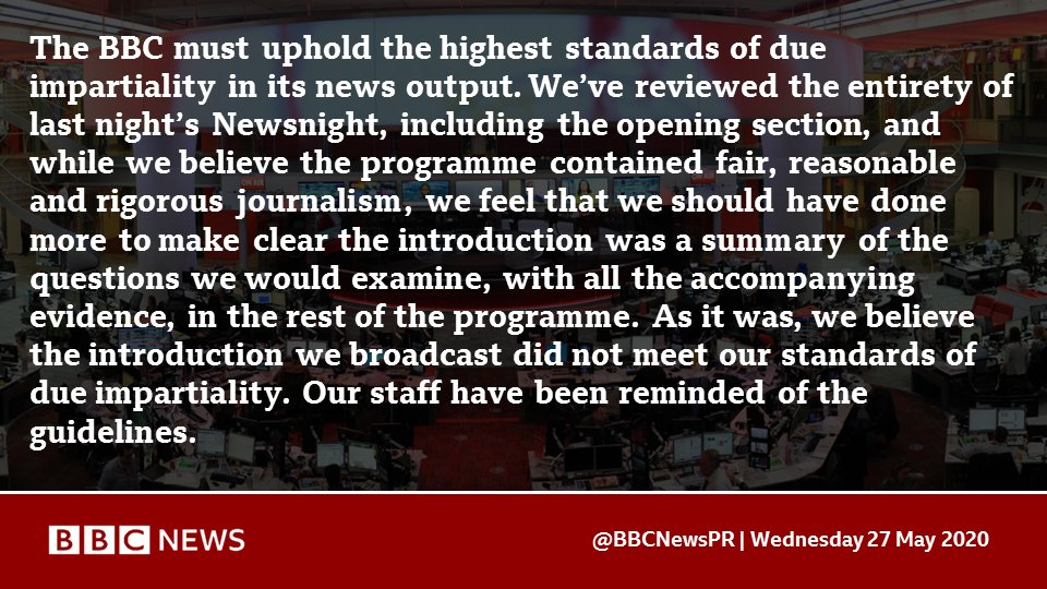 BBC statement on last night's Newsnight https://t.co/JFm4Nt5YMv