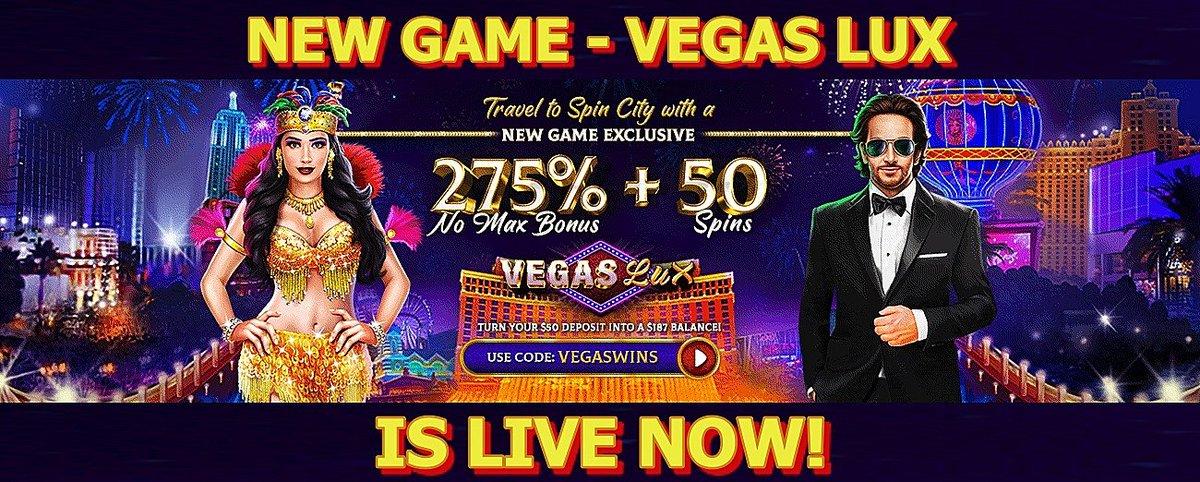 Wednesday Deposit Bonuses | New Game – Vegas Lux bonuses https://t.co/vtscqUV3Ju #casino #match #slots #freespins #bonus #CouponCode #casinobonus #casinoUSA #CasinoAustralia #wednesday https://t.co/keTEaiO5ey