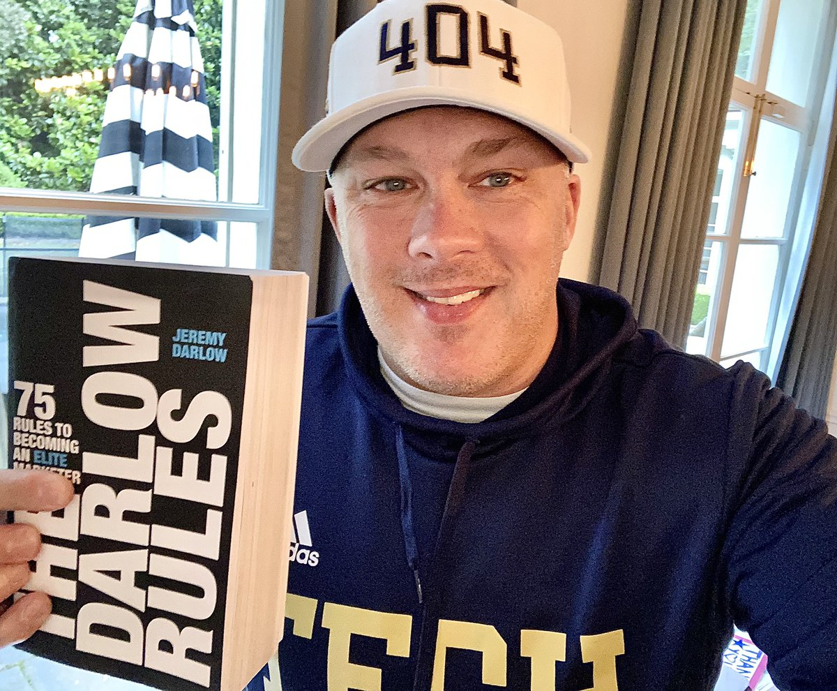 So PROUD that we were FIRST College Program to PARTNER w/ @JeremyDarlow to Truly Help MAXIMIZE our @GTFootball players experience ON & OFF the FIELD & Jeremy thanks for the Perfect Read 4️⃣ a rainy day in the ATL!!!!