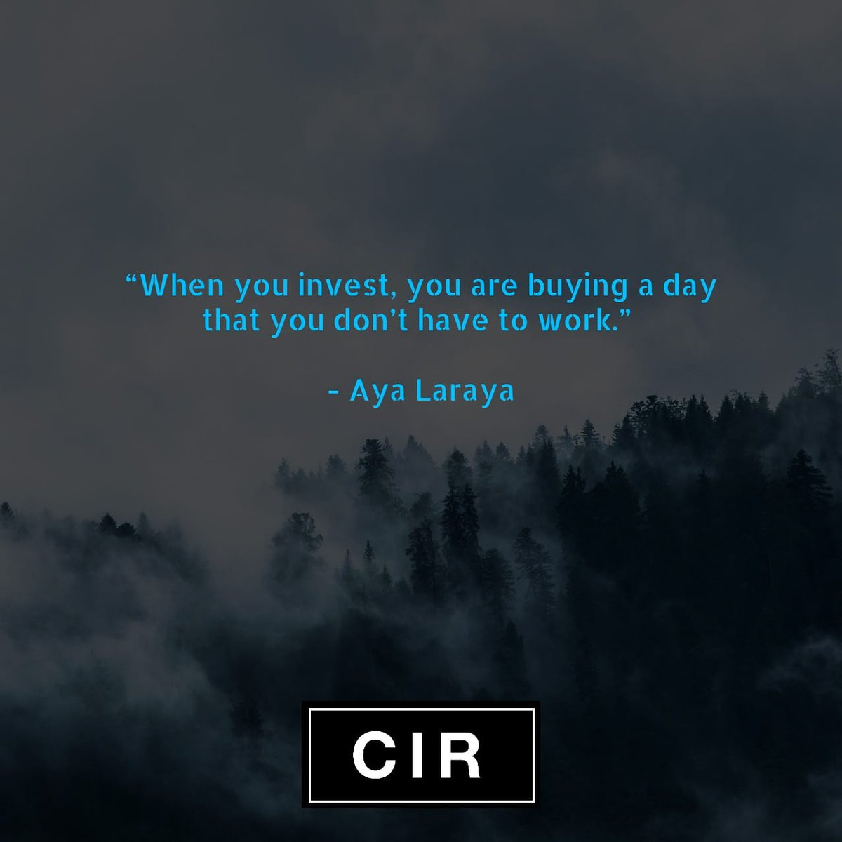 #Invest so you can stop working one day . pic.twitter.com/jrPLp51cXv