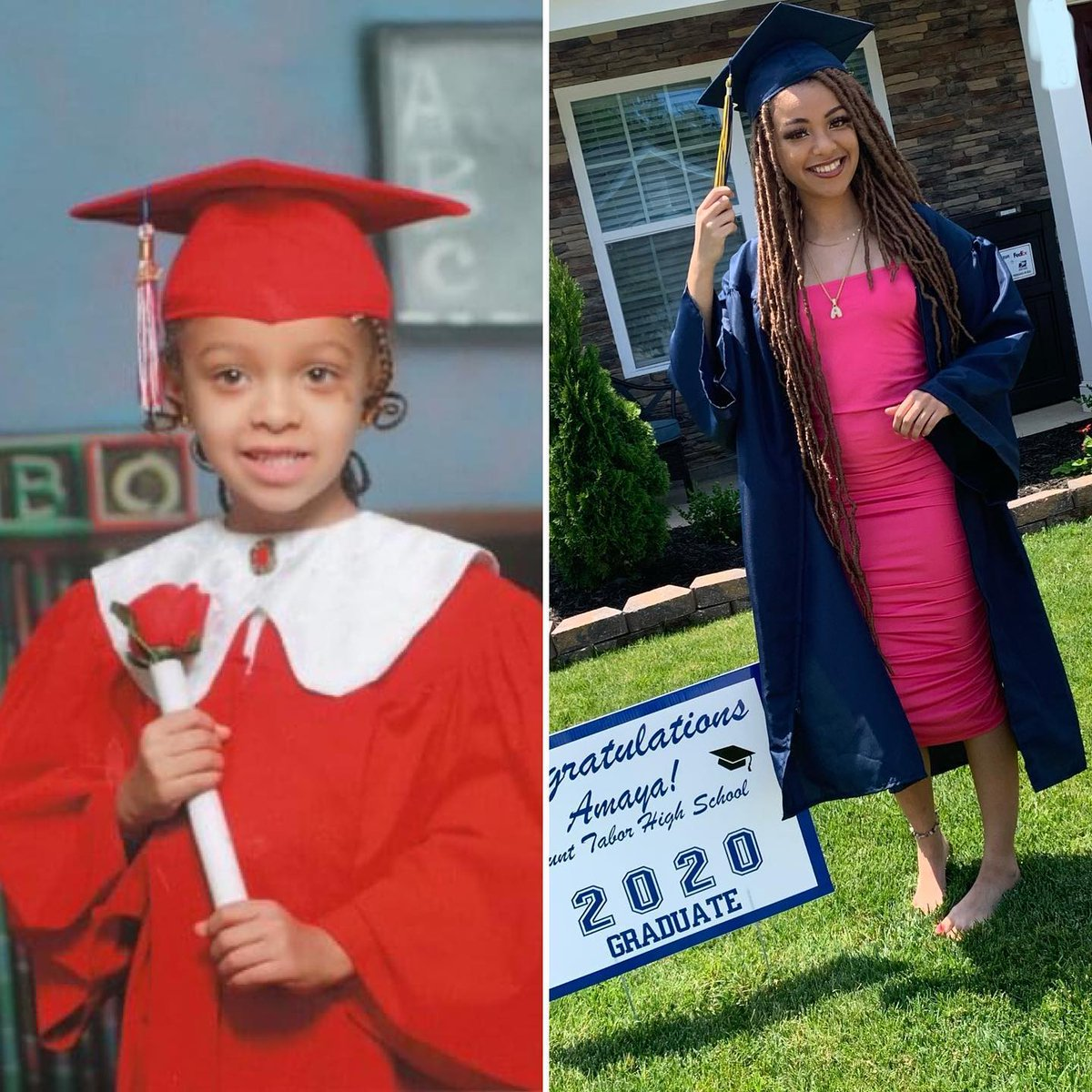 📷 by @michellej.mj: #shedidthat Pre-K to 12th 🎉Congrats to our baby girl amaya.jay our honor student, #classof2020 high school graduate. So proud, Keep shining tink tink! @wssu1892 #sheready #wssu24 #futurenurse https://t.co/NP98J6D4uV