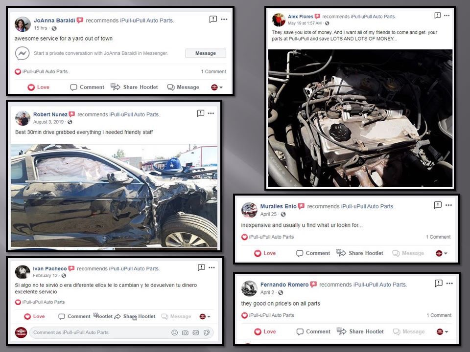 """We love to hear what you guys have to say about our yards! Let us know how we are doing in the """"reviews"""" section of our Facebook pages. Thank you for the continued support of iPull-uPull Auto Parts!  #ipullupull #car #carparts #autoparts #selfserve #savepic.twitter.com/hgelt4s2ka"""