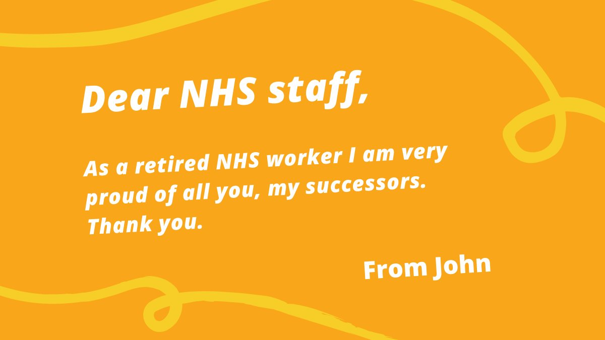 👩⚕️Our health and social care workers are going above and beyond during the coronavirus crisis - we want to say thank you. 💌We put out a call for members of the public send a message of appreciation to NHS staff, take a look at some of the responses 👇