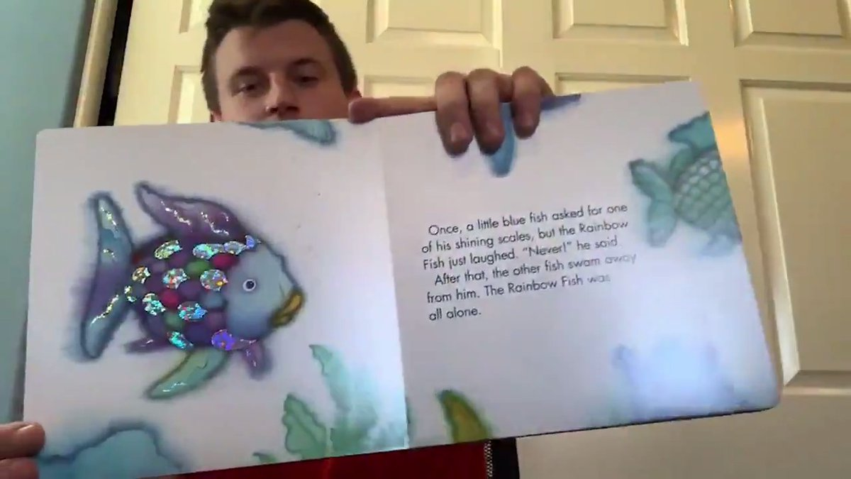 Looking to mix up tonights bedtime reading? 📚 FB @johnnystantoniv has you covered with a reading of The Rainbow Fish! More resources to help your kids #StayInTheGame » get2school.org @get2school