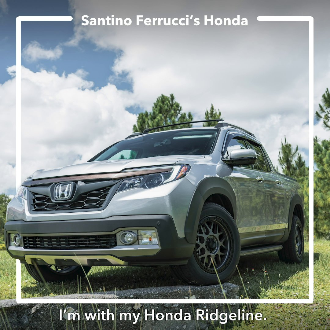 .@INDYCAR driver @SantinoFerrucci shares some of the modifications made to his #HondaRidgeline.