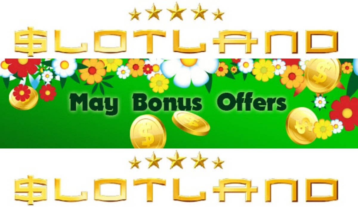 Slotland casino newsletter bonus codes. Up to 150% end of May bonuses https://t.co/voCffXITG6 #casino #match #slots #bitcoin #bonus #CouponCode #casinobonus #casinoUSA #CasinoAustralia #slotland https://t.co/zdzmFsjSYS