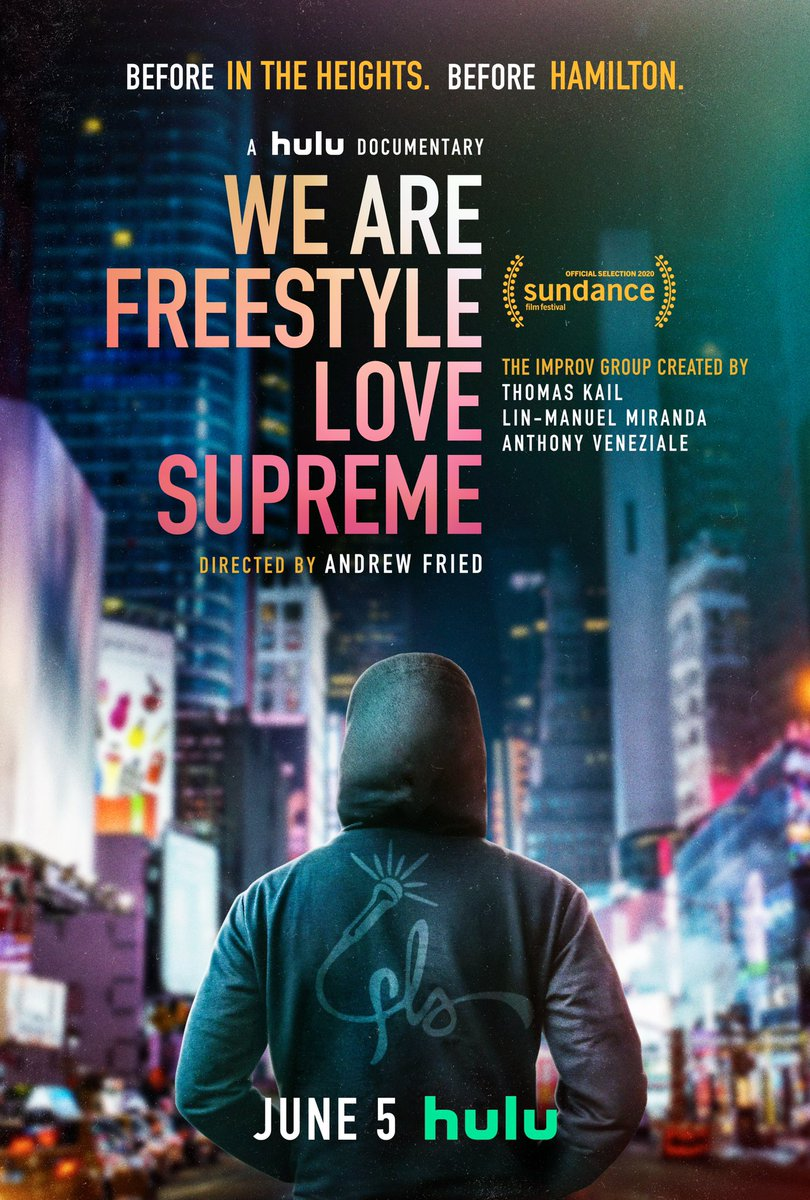 For 15 years, before anyone knew or cared, @Andrew_Fried followed us with a camera. The result is the documentary #WeAreFreestyleLoveSupreme, and I can't believe you get to watch it next Friday on @hulu. Trailer drops tomorrow. ❤️❤️❤️
