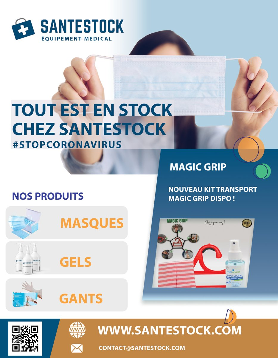 TOUT EST EN STOCK CHEZ https://t.co/ytVmSsCQRu #stopcoronavirus #coronavirus #santestock #sante #stock #COVID19 #virus #masques #gel #masque #chirurgicaux #protection #medicalcenter #ffp2 #chirurgical #kn95 #masques #covid19 #coronavirus #magicgrip #magic https://t.co/TtwPrgcB4m