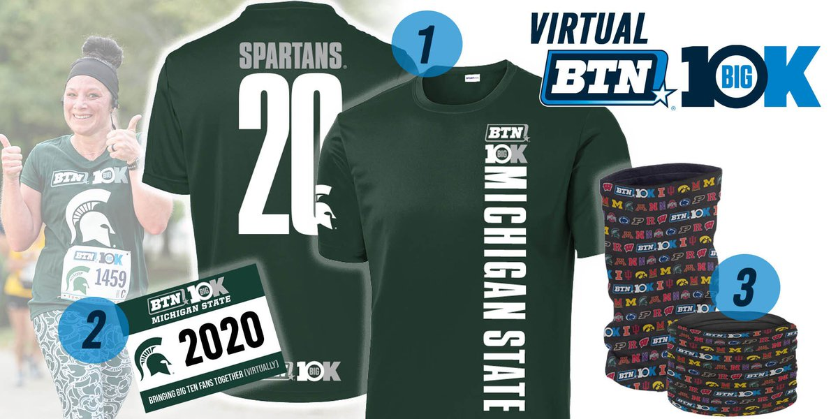 Hey @MSU_Athletics fans! Join us for the first-ever VIRTUAL BTN Big 10K!  Represent MSU while you Walk or Run a 5K or 10K anytime between July 26 and Aug. 1 from anywhere, while giving back to great organizations!  More Information & Registration ➡️https://t.co/yDjdT8iBGp https://t.co/cTt3mgyzdA
