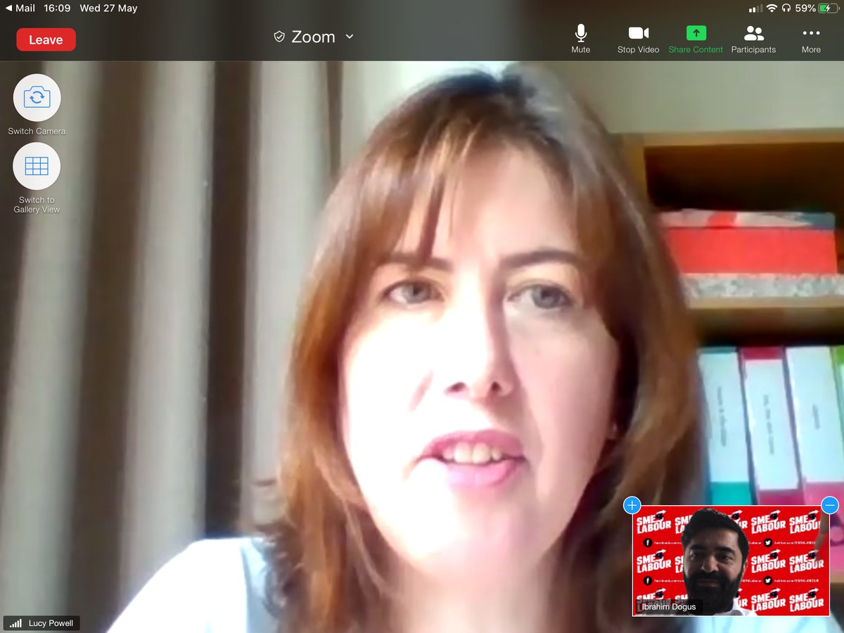 Thank you @LucyMPowell for joining @SME4LABOUR video call on 'How Labour can support SME's and the self-employed through the Coronovirus crisis and afterwards'. To learn more and join SME4Labour, visit sme4labour.org #SmallBusiness #Solidarity #labour