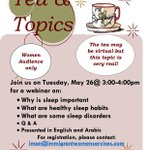 Image for the Tweet beginning: This week's virtual tea and