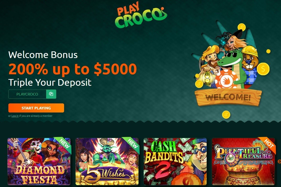 PlayCroco casino bonus codes. Up to 175% match and free spins new game bonuses https://t.co/r7iSFDspKt #casino #match #slots #freespins #bonus #CouponCode #casinobonus #casinoUSA #CasinoAustralia #PlayCroco #VegasLux https://t.co/p57XmHK5K3