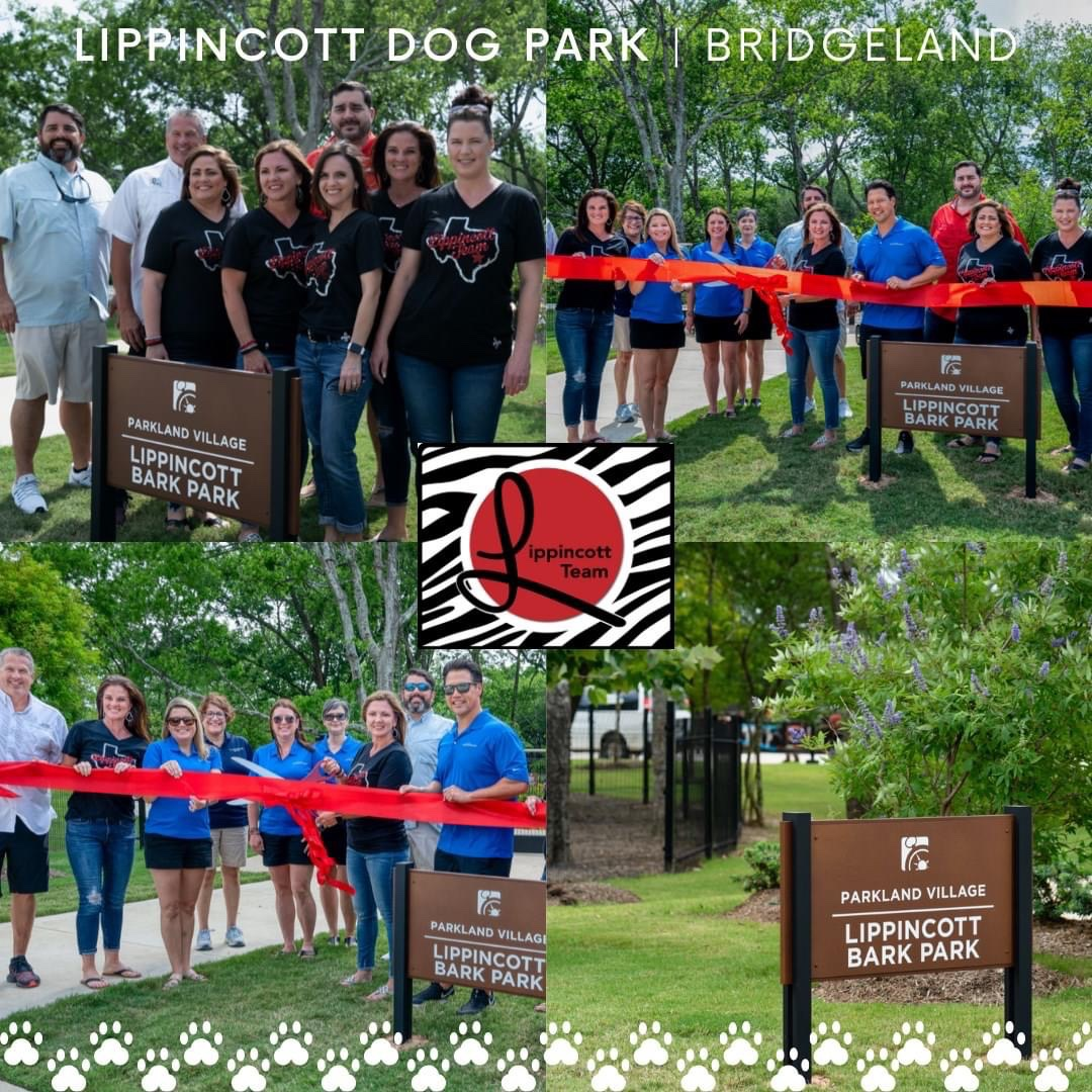#TheLippincottTeam was paws-itively honored to have the opportunity to name Bridgeland's new dog park - Lippincott Bark Park  We  Bridgeland! Let us know if you take your pup to visit in Parkland Village! #RedRocks #BeOriginal #AccomplishAnything #BestCypressRealtorpic.twitter.com/LKPue1vVoC