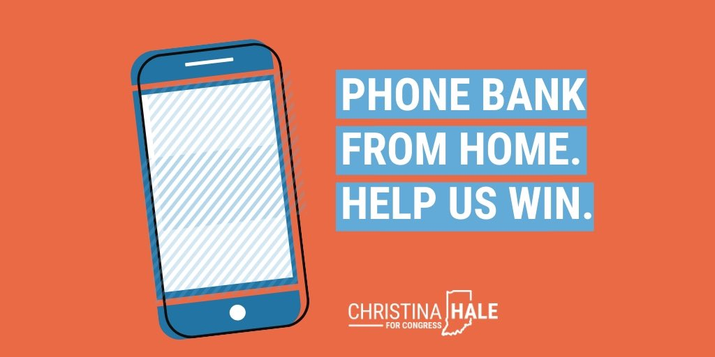 With less than a week until the primary, we're calling #IN05 voters about how to safely cast their ballot. Join us: Mobilize.us/haleforcongress