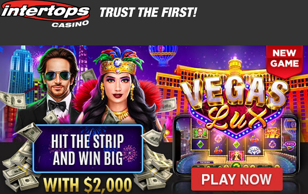 Intertops casino bonuses – latest offers. Up to $2000 match and free spins new game bonuses https://t.co/PVXHBSXCDZ #casino #match #slots #freespins #bonus #CouponCode #casinobonus #Intertops #newslot #VegasLux https://t.co/yqiPa49gGB