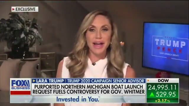 """Senior Advisor @LaraLeaTrump says Gretchen Whitmer should ask the wonderful people of Michigan if they thought her husband's """"joke"""" was funny"""