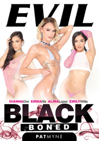 "New release date for @patmynec's ""Black Boned"" DVD coming through @evilangelvideo 7/22 Covergirls are @EMMAHIXOFFICIAL @Gianna_DiorXXX & @emilywillisxoxo also starring @ItsAlinaLopez"