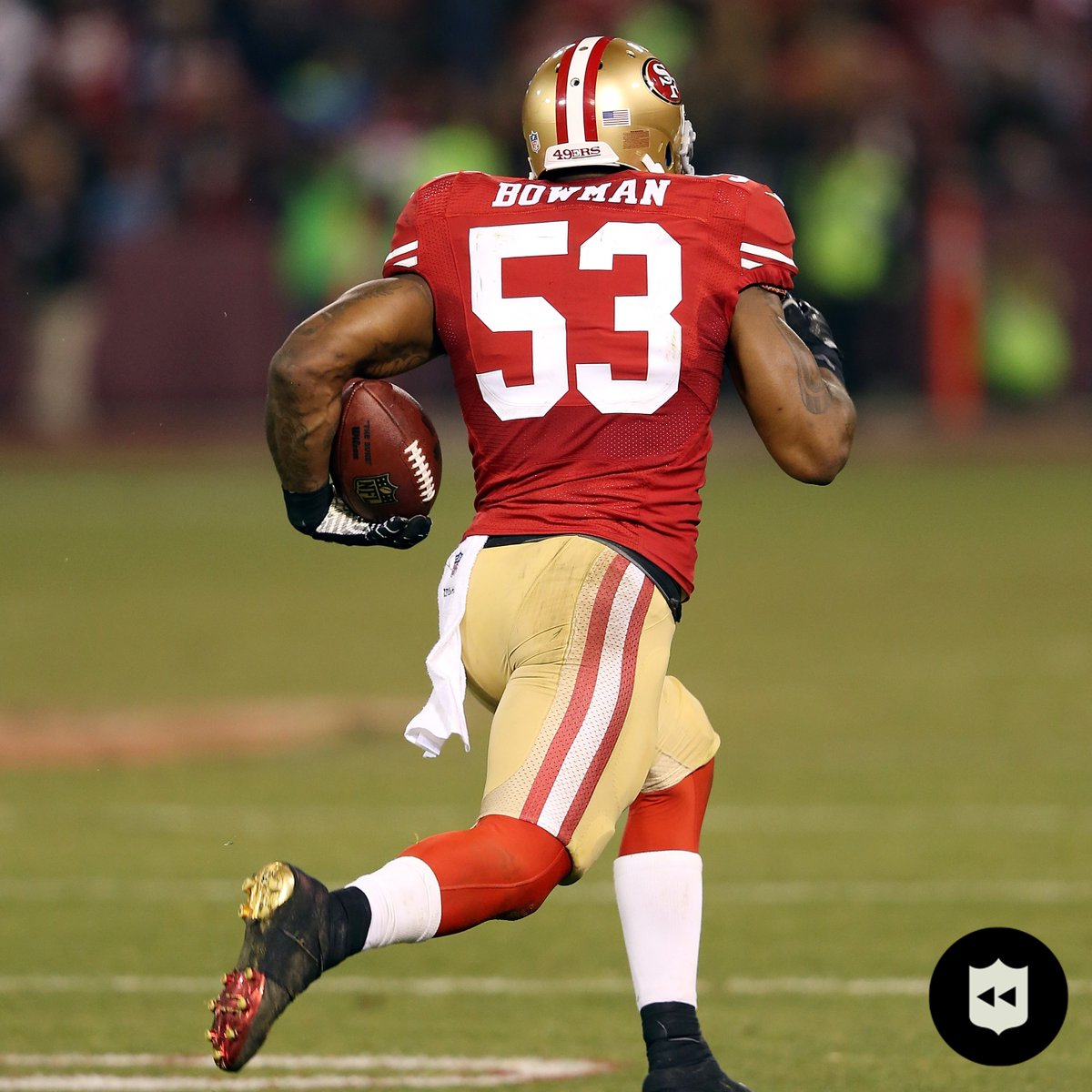 "Happy 32nd birthday to 4x All-Pro LB @NBowman53!  His only career touchdown was an iconic one: ""The Pick At The Stick"" @49ers (Dec. 23, 2013) https://t.co/1OeV8lsbco"