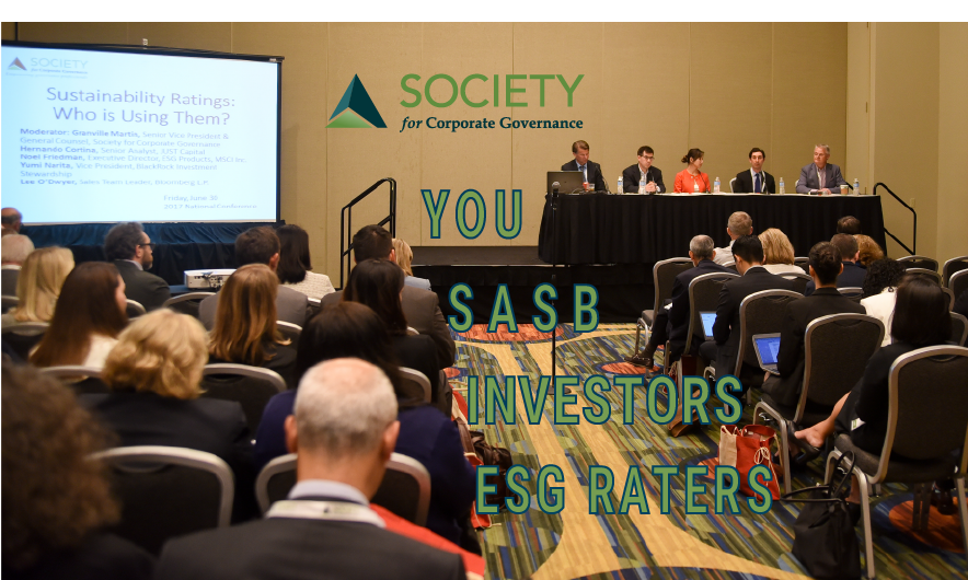 Connect with company peers, investors, ESG raters and @SASB through the Society's ESG program. Learn more at https://bit.ly/Society-ESG-Program … #ESG #sustainability #climatechange #corpgov #grcpic.twitter.com/QA71VaHhEI