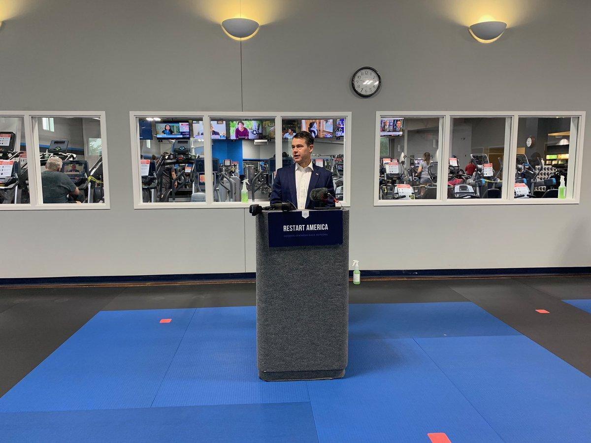 Speed bag: ✔️ Protein shake: ✔️ Restarting small businesses like Bob's Gym in Evansville: ✔️ #RESTARTamerica
