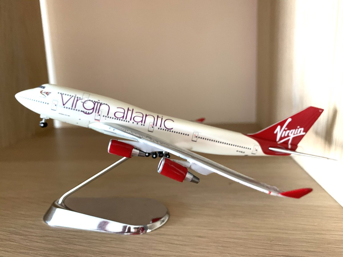 With @VirginAtlantic retiring it's 747 fleet, we felt we had to get a model of Ruby Tuesday. The plane that took us on honeymoon to Las Vegas 11 years ago. Definitely will miss her along with English Rose. <br>http://pic.twitter.com/N3lcv0XHwE